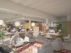 Oficinas 22@. Marzo 2016 Proyecto de oficinas en el distrito del 22@ en Poble Nou, Barcelona.  Oficinas para un estudio creativo. #diseñointerior #interiordesign #barcelona #diseñooficinas #office #light #luz #workingspace #openspace #industrial #armchairs