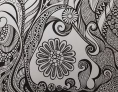 """Check out new work on my @Behance portfolio: """"Black and white zentangle curves"""" http://be.net/gallery/38342575/Black-and-white-zentangle-curves"""