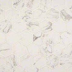 """Pietra Carrara 2"""" Hexagon Matte"""