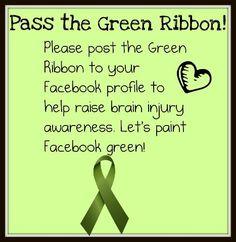 Brain Injury Awareness Ribbon