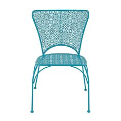 Go retro chic for your patio seating with this DecMode Outdoor Flower Chair . This all-weather patio chair is made of lightweight, durable textured. Balcony Chairs, Patio Dining Chairs, Patio Seating, Side Chairs, Outdoor Chairs, Outdoor Furniture, Rattan Chairs, Room Chairs, Dining Table