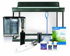 5 Gallon Aquarium Kit Glass Fish Tank Supplies Filter Starter Tank Just Add Fish
