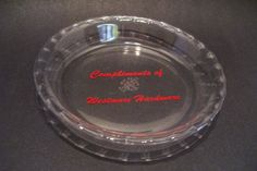 Vintage Pyrex Pie Plate Pan 208 Canada Advertising Westmore Hardware 8.25 inches by okanaganvintage on Etsy