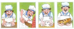 4 images: boulanger qui fait on pain Sequencing Pictures, Sequencing Cards, Speech Language Pathology, Speech And Language, Time Activities, Preschool Activities, Act Math, Paragraph Writing, Therapy Tools