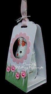 Today I have some little Easter Treat Holders to show you which I made using the Scallop Tag Topper punch. The idea came from an A...
