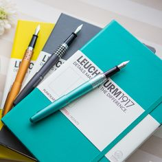 Are you getting started in Bullet Journaling? Peruse our Bullet Journal friendly products! Get your Leuchtturm1917 Notebook, fountain pen, and ink all in one place. Pin for later.