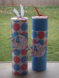 Fire Crackers Treat Cans (Pringles cans)