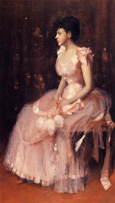 """Portrait of a Lady in Pink"" (1888-89) William Merritt Chase"