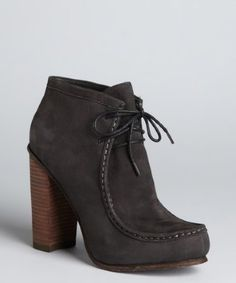 Dolce Vita - black leather 'Jada' stacked heel moccasin boots