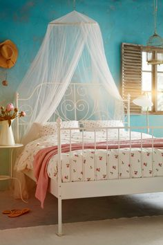 Johanna's big girl bed and can double as a guest bed: LEIRVIK Bed frame - Queen, - IKEA Full Bed Frame, King Bed Frame, Ikea Bedroom, Bedroom Decor, Bedroom Ideas, Bedroom Themes, Cozy Bedroom, Cama Ikea Kura, Bedroom Furniture