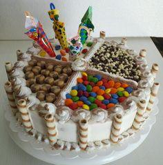 Torta de crema combinada moderna