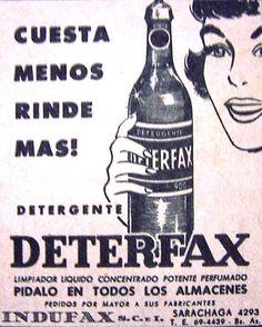 Deterfax Detergente 1959