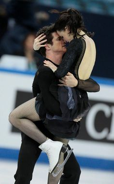 Silver lining: World champions Tessa Virtue and Scott Moir of Canada settled for silver in ice dancing after losing out to Americans Meryl Davis and Charlie White in the Grand Prix Final on Saturday. Virtue And Moir, Tessa Virtue Scott Moir, Tessa And Scott, Ice Dance, Figure Skating Dresses, Ballet, Bollywood Girls, Young Love, Dance Pictures