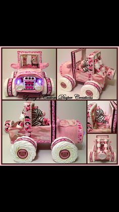 Jeep diaper cake! So cute! Need this for my next baby shower...