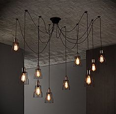 WinSoon Modern 14 Heads Pendant Ceiling Lamp Lighting Without Bulb for Kitchen Island Living Room Painted Finish - - Amazon.com