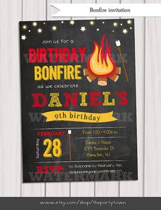 free bonfire invitations primary pinterest free party