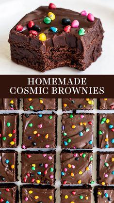 Dessert Bars, Smores Dessert, Honey Dessert, Appetizer Dessert, Dessert Food, Cosmic Brownies, Fudge Brownies, Baking Brownies, Frosted Brownies