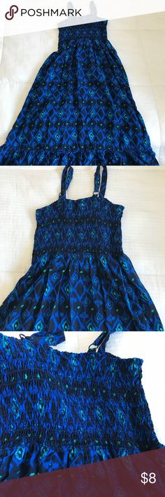 Cherokee - little girls long maxi dress Size small (6-6X) little girls smocked maxi dress. Beautiful colors and super cute on. Excellent condition. Cherokee Dresses