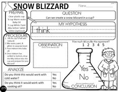 The Bender Bunch: Easy Snow Blizzard Science Experiment