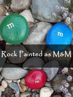 Rock Painted as M