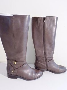 f2275bdeaa175d Ralph Lauren Mariah Riding BOOTS Leather Black Wide Calf Size 11 B