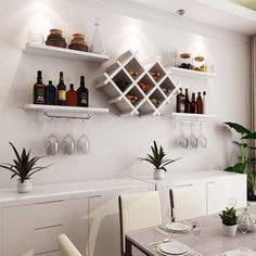 Wine Bottle Rack, Wine Rack Wall, Diy Wine Racks, Contemporary Wine Racks, Modern Wine Rack, Contemporary Style, Wine Rack Design, Home Bar Decor, Home Bar Designs