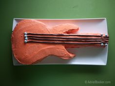 Rockstar Kids Birthday Party guitar cake - easy and adorable for a rockstar party