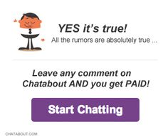 Chatabout: Earn FREE Cash For Writing Comments - http://www.guide2free.com/paid-surveys/chatabout-earn-free-cash-for-writing-comments/