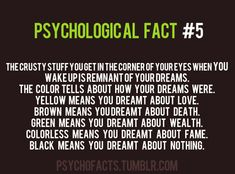 You can't dream about nothing it is impossible and I always have brown do I need to go get help <<< I always have yellow