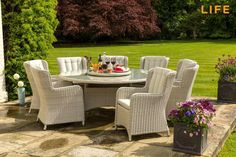 Dining set King white beach | Tuinmeubel Collectie | LIFE Outdoor Living