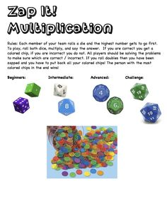 Zap It! Multiplication Game - good center