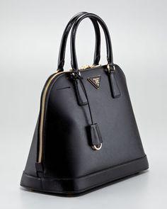 Prada Small Saffiano Promenade Bag, Black (Nero), Women\u0026#39;s, Size: S ...