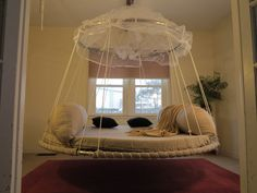 1000 images about dream bedroom decor on pinterest for Hanging circle bed