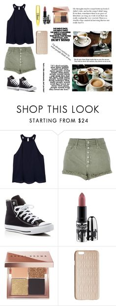 """Outfit #55"" by nikkig2426 ❤ liked on Polyvore featuring MANGO, River Island, Converse, MAC Cosmetics, Bobbi Brown Cosmetics and Dagmar"