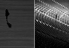Fotógrafo retrata a solidão em meio a formas geométricas da cidade