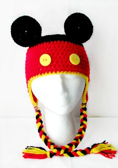 Crochet Mickey Mouse Hat