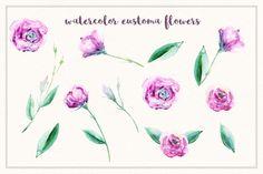 Watercolor Eustoma by Spasibenko Art on @creativemarket