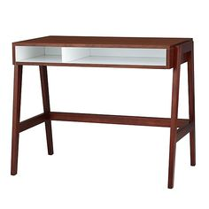 Prairie School Desk (Walnut) | The Land of Nod - I don't care for this. not necessary