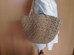 【編み図】麻ひもの松編みマルシェバッグ – かぎ針編みの無料編み図 Atelier *mati*