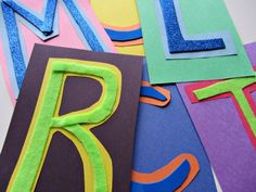 Alphabet for starters texture letters { this is a Montessori inspired activity } Preschool Literacy, Early Literacy, Literacy Activities, In Kindergarten, Toddler Activities, Alphabet Crafts, Letter A Crafts, Alphabet Books, Alphabet Letters