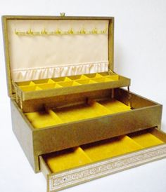 Mele Three Tier Jewelry Box 1960s by VintageItemsForYou on Etsy, $18.99