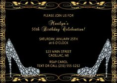 105 best adult birthday invitations party printables and more diamond shoes adult birthday invitation adult birthday party invite 50th birthday invitation filmwisefo