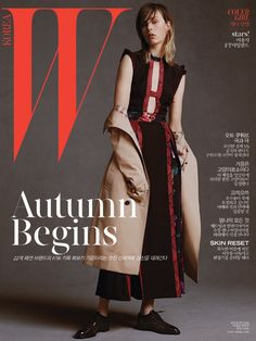 Edie Campbell Wears Burberry for W Korea Magazine Cover Girl August 2016 Editorial Look-07