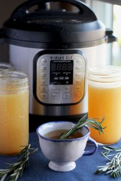 Instant Pot Bone Broth (AIP) - an easy recipe for a healing, nourishing broth that is good for the body and soul! | fedandfulfilled.com