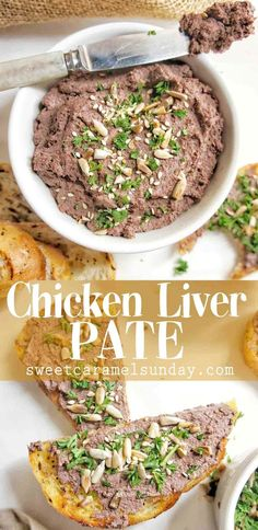 Chicken Liver Pate recipe that is an easy crowd pleasing success! Chicken Pate Recipe, Chicken Liver Recipes, Chicken Liver Pate, Chicken Livers, Pate Recipes, Lunch Recipes, Great Recipes, Cooking Recipes, Favorite Recipes