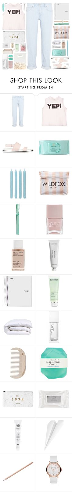 """""""Yep!"""" by sarahkatewest ❤ liked on Polyvore featuring MiH Jeans, Senso, Estée Lauder, Pier 1 Imports, Wildfox, Supersmile, Nails Inc., Korres, Byredo and Darphin"""