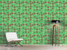 Design #Tapete Mosaik Geometrie