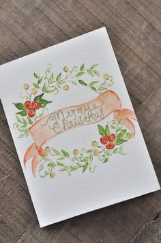 Handmade watercolor greeting card print. Cards are hand cut and made with a fine art cardstock ensuring quality watercolor prints. Inside of card