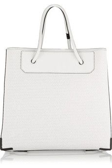 Alexander Wang Prisma 3D mesh-effect leather tote | THE OUTNET