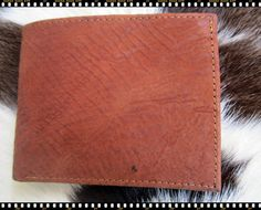 men's wallet Genuine shark Skin Wallet bifold vintage by Ossora